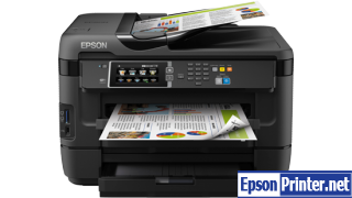 How to reset flashing lights for Epson WorkForce WF-7621 printer