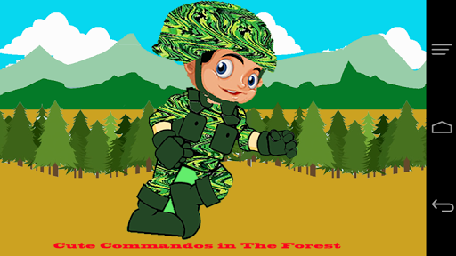 Cute Commando in The Forest