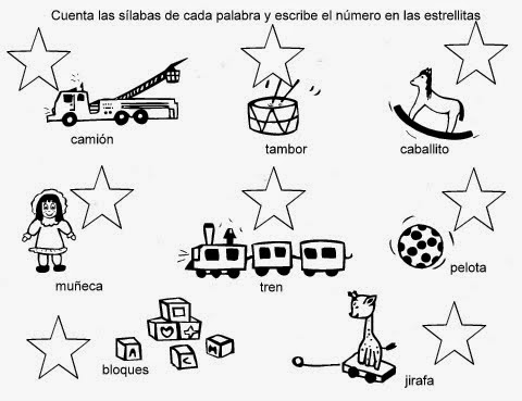 Ejercicios De Silabas Para Tercero Preescolar Imagui