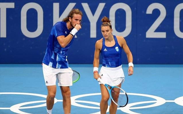 Ολυμπιακοί Αγώνες 2020-Τένις: Πρώτη νίκη στο μεικτό διπλό για Τσιτσιπά/Σάκκαρη