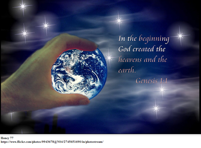 In the begining God created