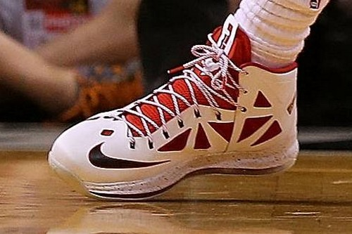 Detailed Look at New Nike LeBron X Miami Heat Home PE