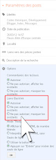 Activer l'option backlinks, par article via l'éditeur d'articles