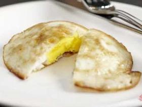 fried egg over hard