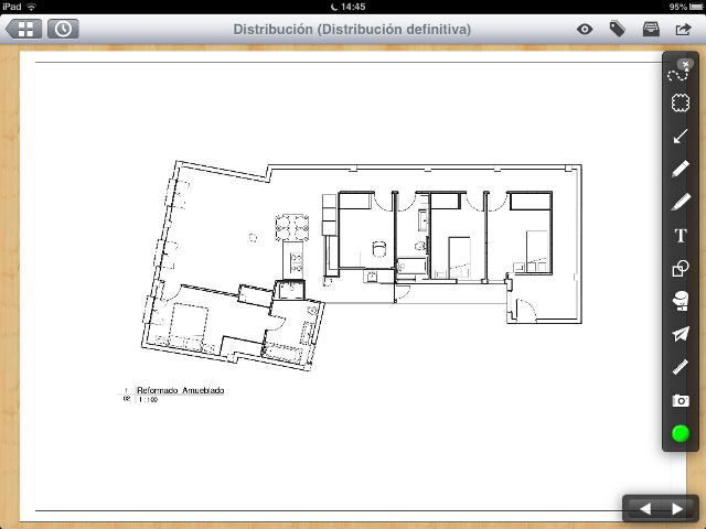 Apps de Construcción - PlanGrid vista de edición de planos en iPad