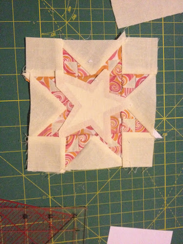 Jane A Stickle Quilt Top Right Corner Triangle Sewn Up