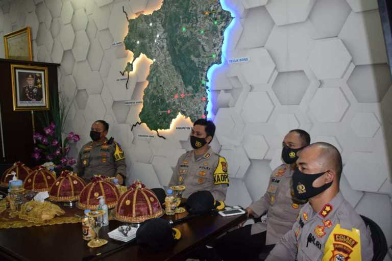 Kapolres Soppeng AKBP Moh Roni Mustofah Hadiri Supervisi Operasi Aman Nusa II