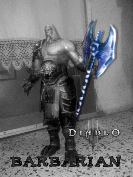 Diablo 3 Papercraft Barbarian Axe
