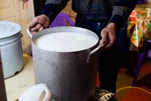 Lyudmila a její manžel Vladimir vyrábí s podporou grantu na obnovu živobytí sýr. Foto: Roman Lunin, Člověk v tísni