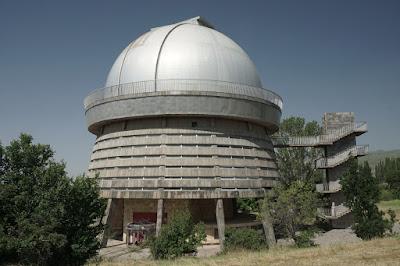 Teleskop im Byurakan-Observatorium