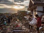 Lagi Terjadi Gempa Dahsyat di Sulawesi Utara , Akibatnya Sejumlah Rumah Rusak dan Jaringan Komunikasi Putus