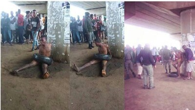 Police Save Suspected Thief From Jungle Justice In Akwa Ibom (Pics)