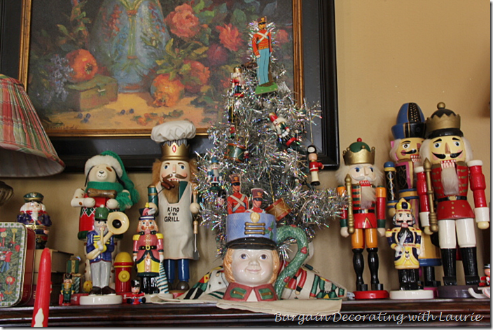 Piano top decorated with Nutcrackers