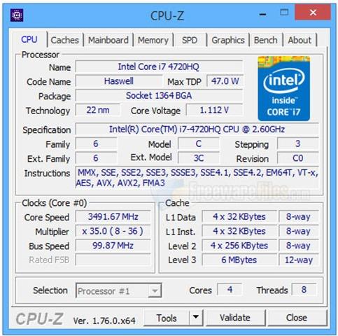 برنامج سي بي يو زد بورتابل CPU-Z Portable 1.78.0 أحدث نسخة