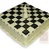 4. kép: Formatorták (fiúknak) - Sakktábla torta