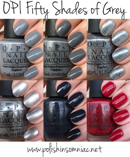 OPI Fifty Shades of Grey ♥ Swatches and Review