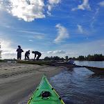 081-We landen op het strand van de Rietplaat.