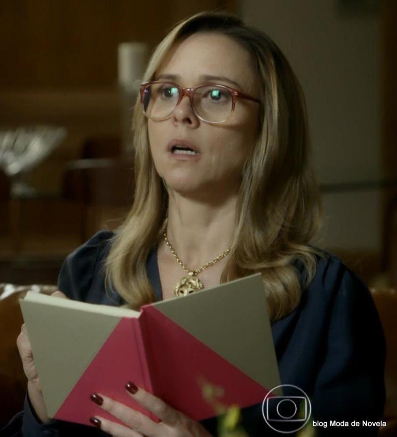 moda da novela Boogie Oogie - óculos da Carlota dia 4 de agosto