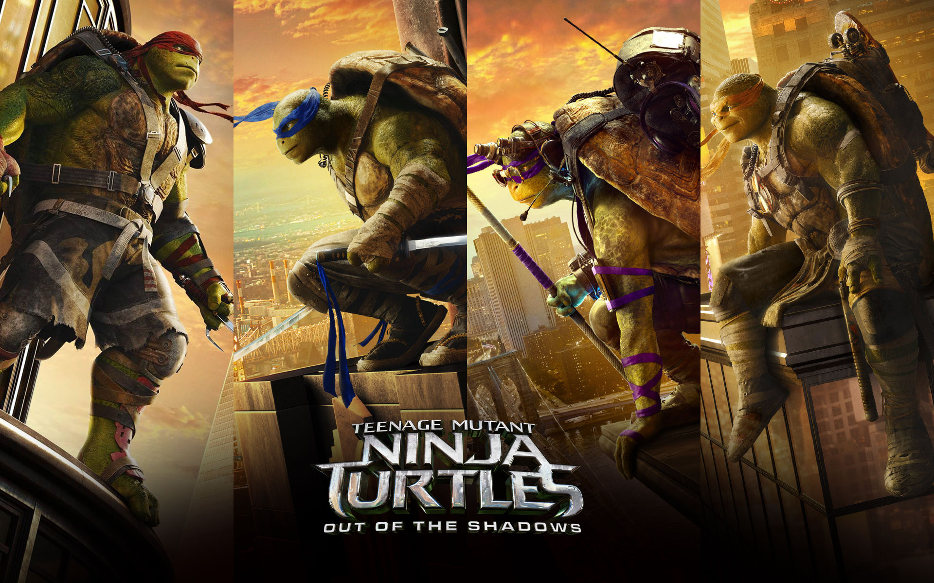Χελωνονιντζάκια ΙΙ (Teenage Mutant Ninja Turtles: Out of the Shadows) Wallpaper