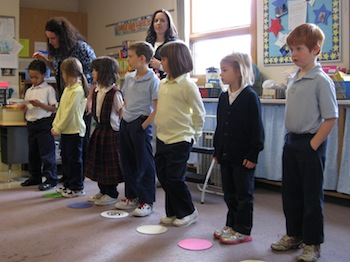 St. Mary of Assumption Students Use EETCHY Steppers