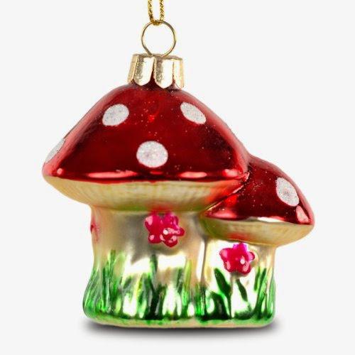 Sikora Christbaumschmuck Glas Ornament Pilz Fliegenpilz H 8cm