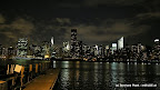 Upper-Manhattan am 1. Abend von Long Island (East River)