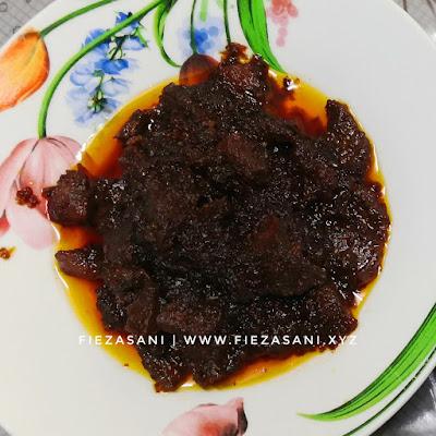 resipi daging masak hitam,daging masak hitam
