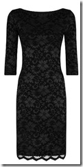 HotSquash long sleeved black stretch lace dress