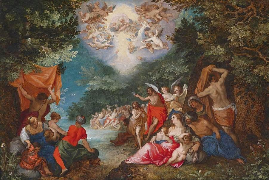 Hans Rottenhammer - Die Taufe Christi im Jordan, circa 1600