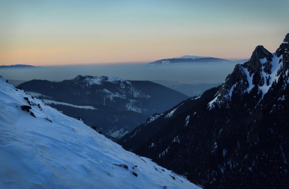 Zachód słońca na Ornaku