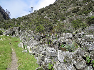 Because there are lots of 600+ year old stone walls along this section of the trail, and we don't want to mess them up!   ©http://backpackthesierra.com