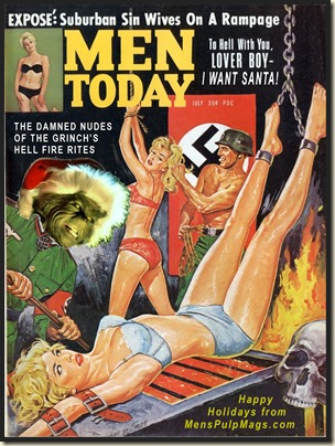 MEN TODAY, July 1964 Xmas spoof, Norm Eastman art, Eva Lynd REV