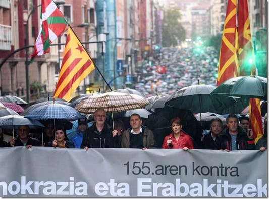 Bilbao march in solidarity with Catalonia