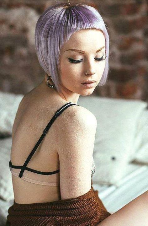 Hair:short hairstyles with different colors for 2018 16