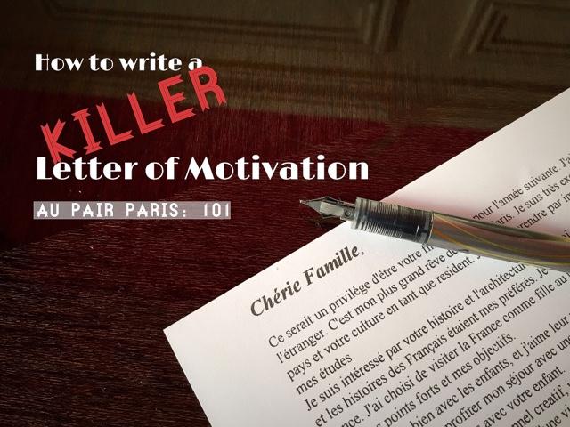 Rue En Rose Au Pair Paris 101 Letter Of Motivation