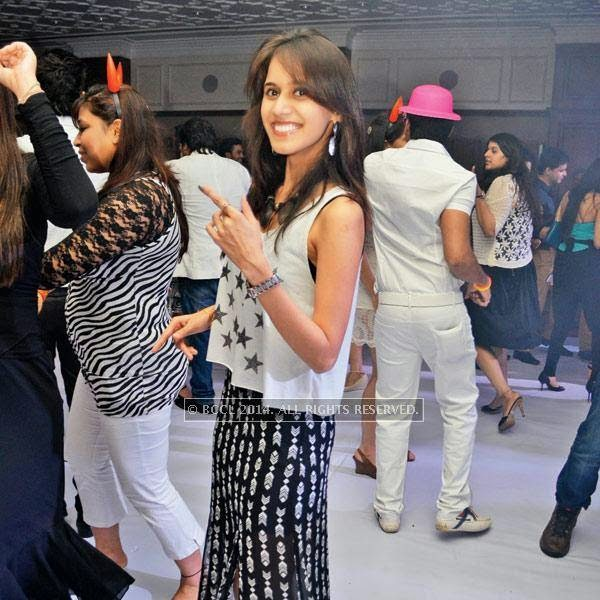 Sheetal at a party, held in Bhopal.