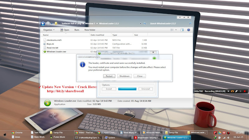 huong dan be crack win 7