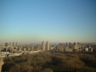 Central Park and north from Central Park west