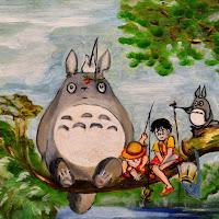 Totoro fishing