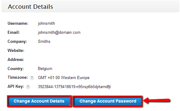 123ContactForm how to change account information