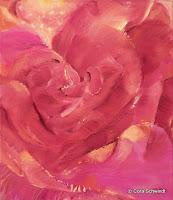 'Rose rosa- Tanz zu zweit', Öl auf Leinwand, 43x50, 2000