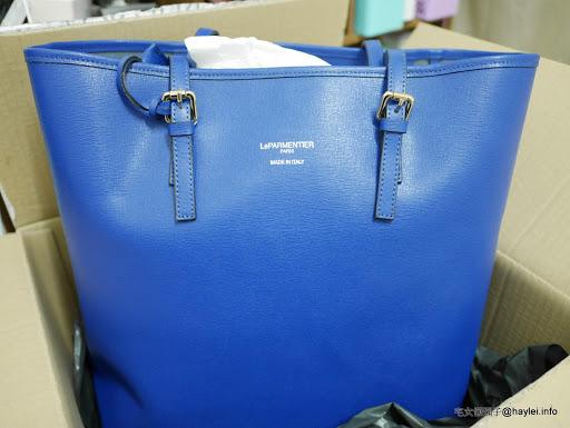 FORZIERI/福喜利時尚購物流程分享 & LE PARMENTIER 藍色女用托特包開箱 實用、耐看的高級皮件,明媚亮麗的寶藍襯得很適合夏天熱鬧活潑的氣息呢!