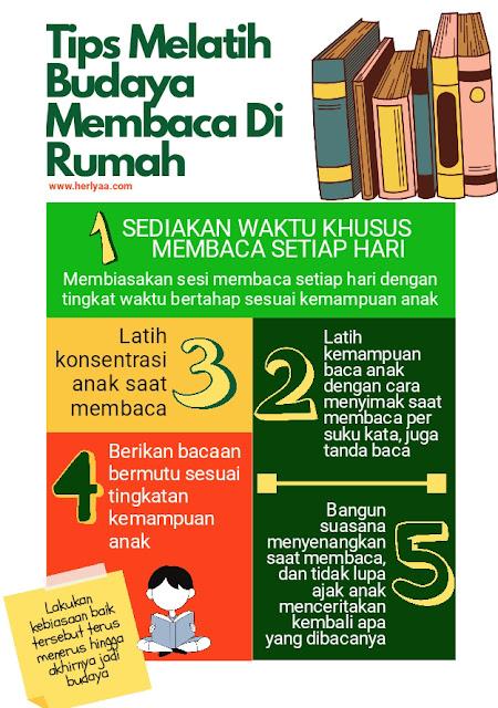 Let's Read, tips budaya membaca di rumah