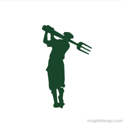 Carlos O'Kelly's Mexican Café Golf Tournament Icon, a golfer swinging a fork