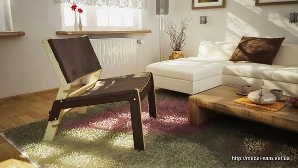Фанерный стул в интерьере