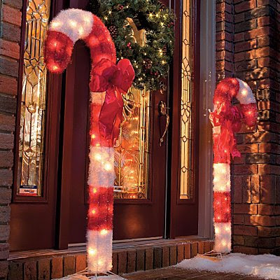 candy cane outdoor christmas decor set of 2 improvements - Candy Cane Outdoor Christmas Decorations