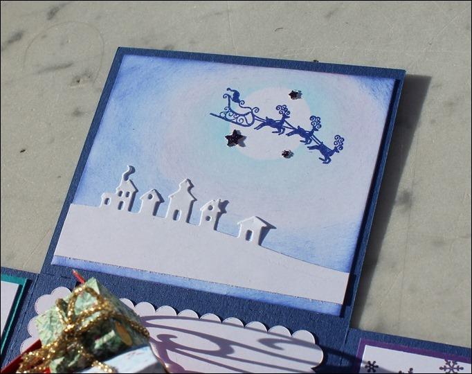 Explosion Box Weihnachten Christmas Santas Sleigh Stampin Up Weihnachtsschlitten Silent Night 07