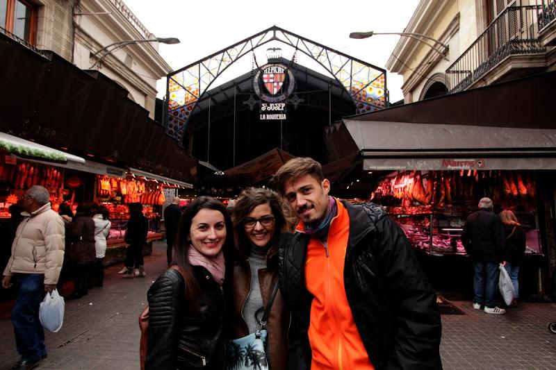 En la entrada del mercado de la Boquería de Barcelona