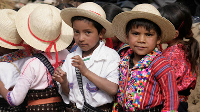 Children at opening ceremony, Sienna Project 2011 Guatemala trip to help build school in Palanquix, Solala, Guatemala. . Photos by TOM HART