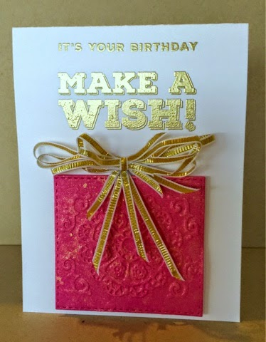 Create Everyday Quick Birthday Card The Sentiment Pink Paper Are